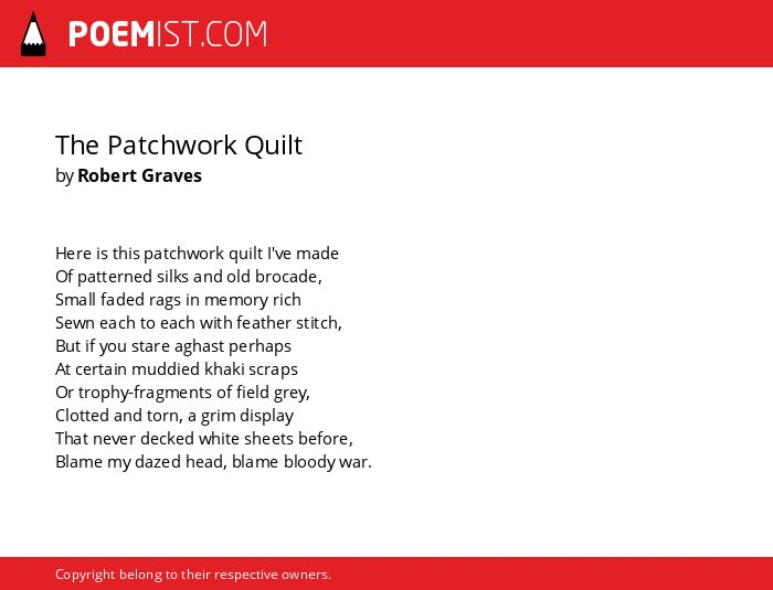 The Patchwork Quilt By Robert Graves Poemist