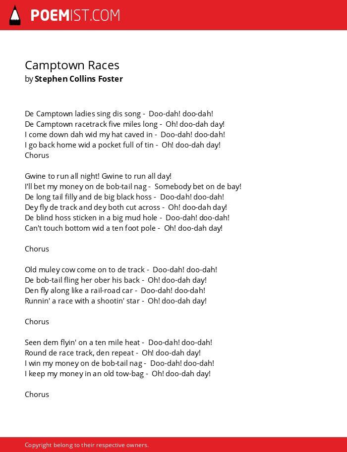 Camptown ladies sing this song